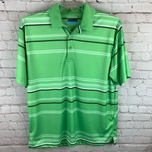NWOT PGA Tour Golf Polo Shirt Green Men's L